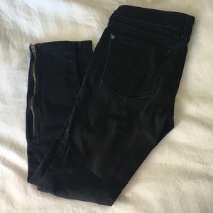 Pilcro Anthropologie skinny jean w/zipper detail